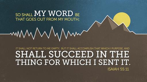 Isaiah 55:11 verse of the day image