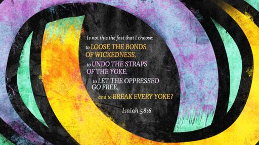 Isaiah 58:6 verse of the day image