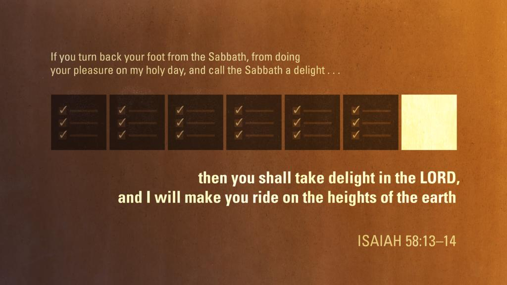 Isaiah 58:13–14 large preview