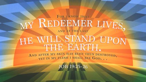 Job 19:25–26 verse of the day image