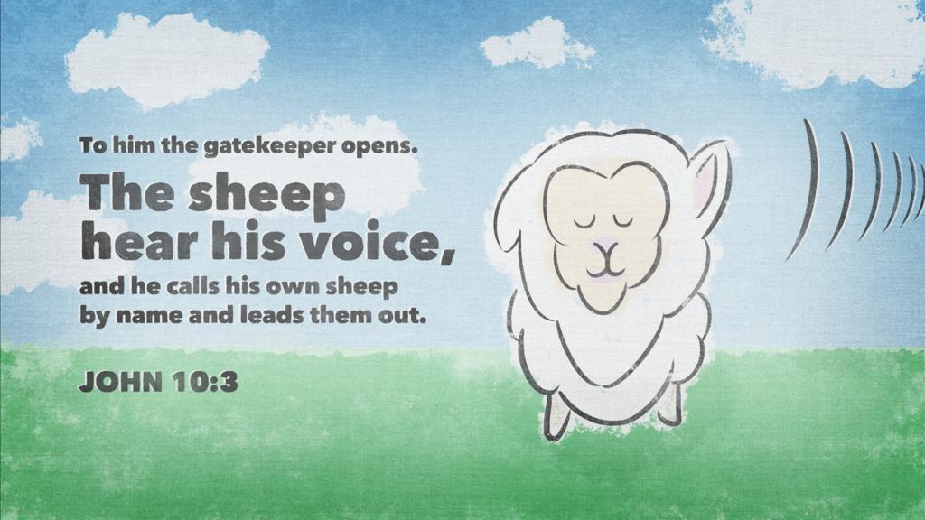 John 10:3 large preview