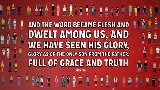 John 1:14 verse of the day image