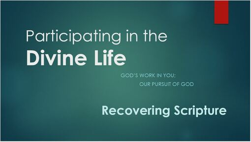 Week 4 - Recovering Scripture