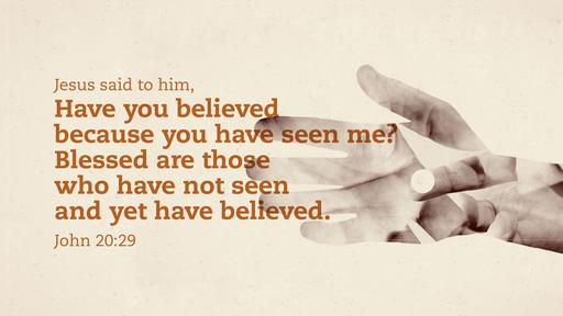 John 20:29 verse of the day image