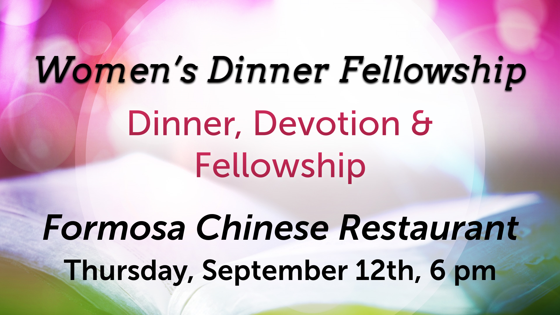 Women's Dinner Fellowship