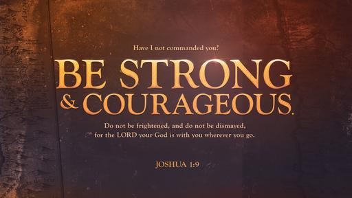 Joshua 1:9 verse of the day image