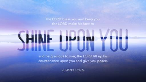 Numbers 6:24–26 verse of the day image