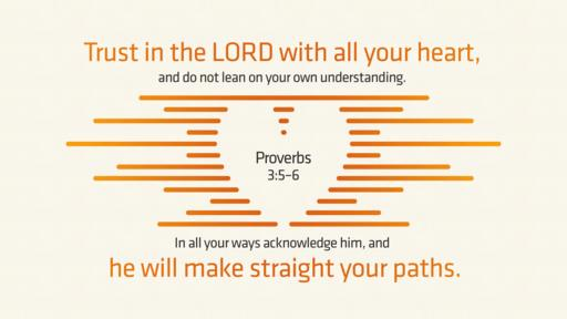 Proverbs 3:5–6 verse of the day image