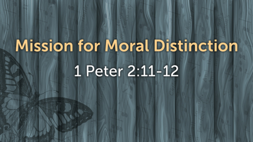 Mission for Moral Distinction