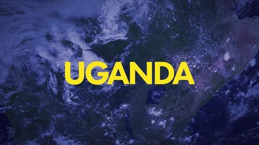 Blue World Map - Go Into All the World - Uganda