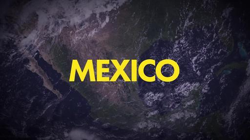 Blue World Map - Go Into All the World - Mexico