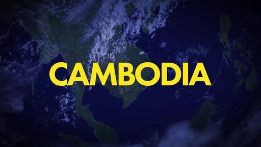 Blue World Map - Go Into All the World - Cambodia