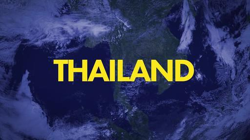 Blue World Map - Go Into All the World - Thailand
