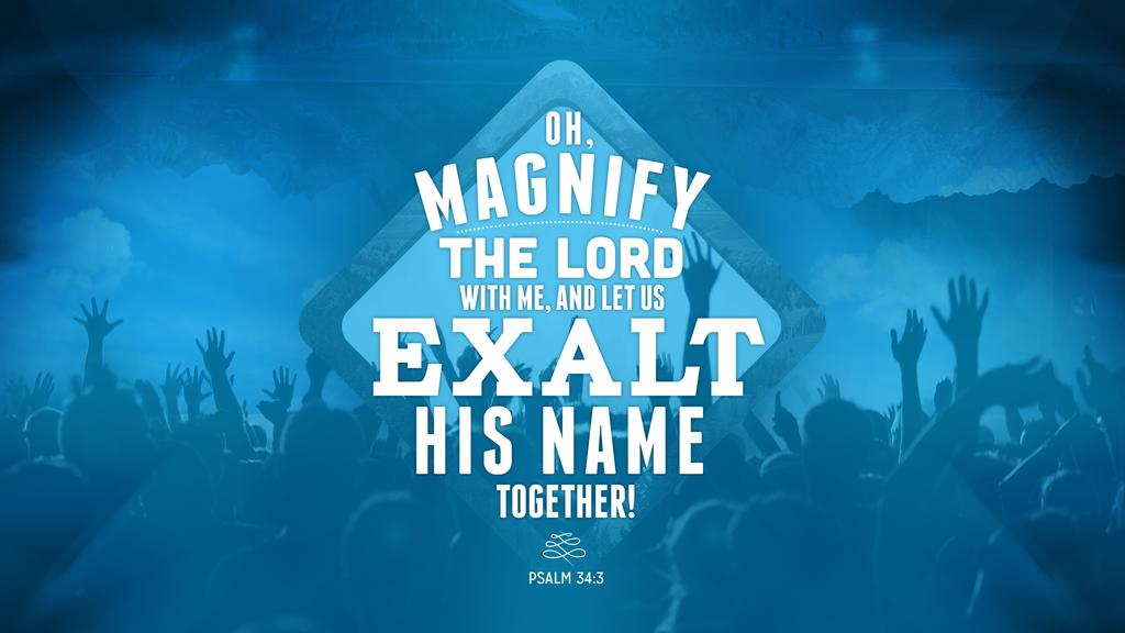 Psalm 34:3 large preview