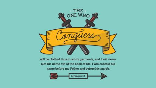 Revelation 3:5 verse of the day image