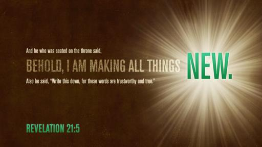 Revelation 21:5 verse of the day image