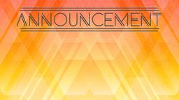 Geometric Dawn announcement 16x9 PowerPoint Photoshop image