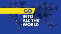 Blue World Map go into all the 16x9 PowerPoint Photoshop image