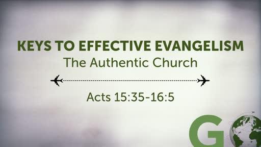 Keys to Effective Evangelism