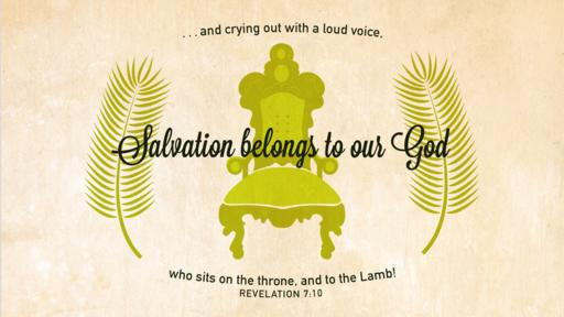 Revelation 7:10 verse of the day image
