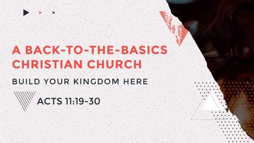 A Back to the Basics Christian Church