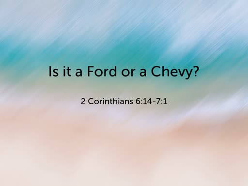 Is it a Ford or a Chevy?