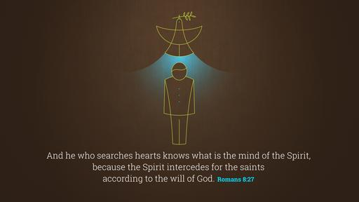 Romans 8:27 verse of the day image