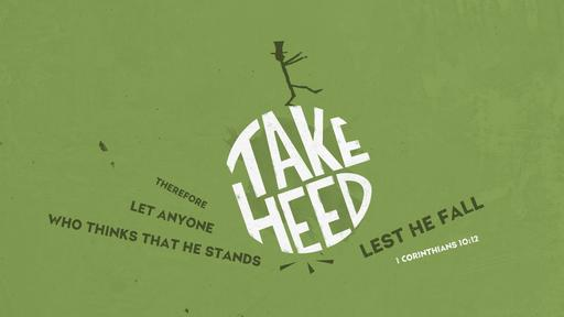 1 Corinthians 10:12 verse of the day image
