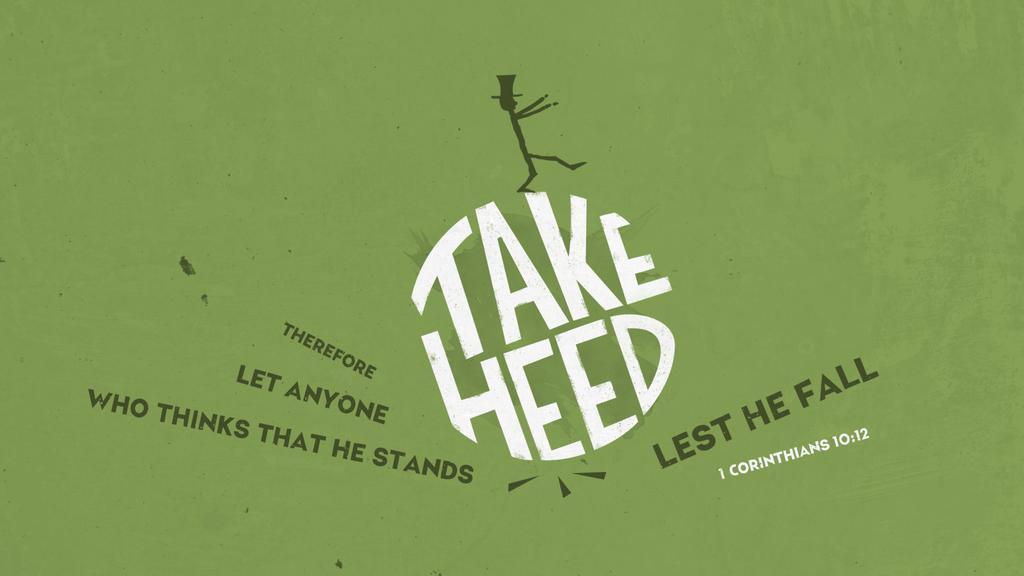 1 Corinthians 10:12 large preview