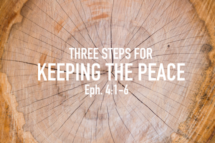 Three steps for keeping the peace