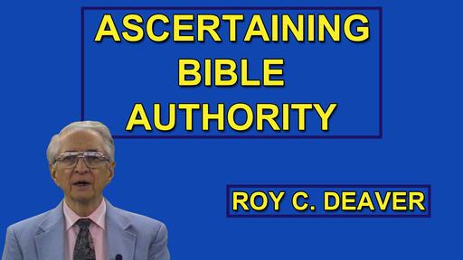 Ascertaining Bible Authority