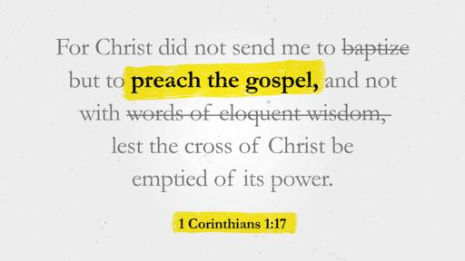 1 Corinthians 1:17 verse of the day image