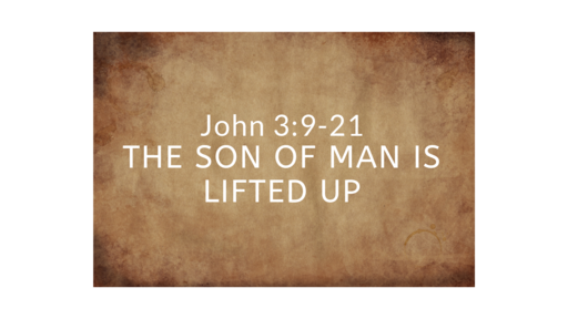 August 18, 2019  Son of Man is Lifted Up John 3:9-21