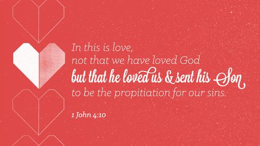 1 John 4:10 verse of the day image