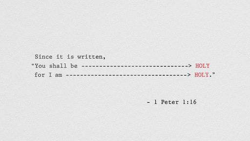1 Peter 1:16 verse of the day image