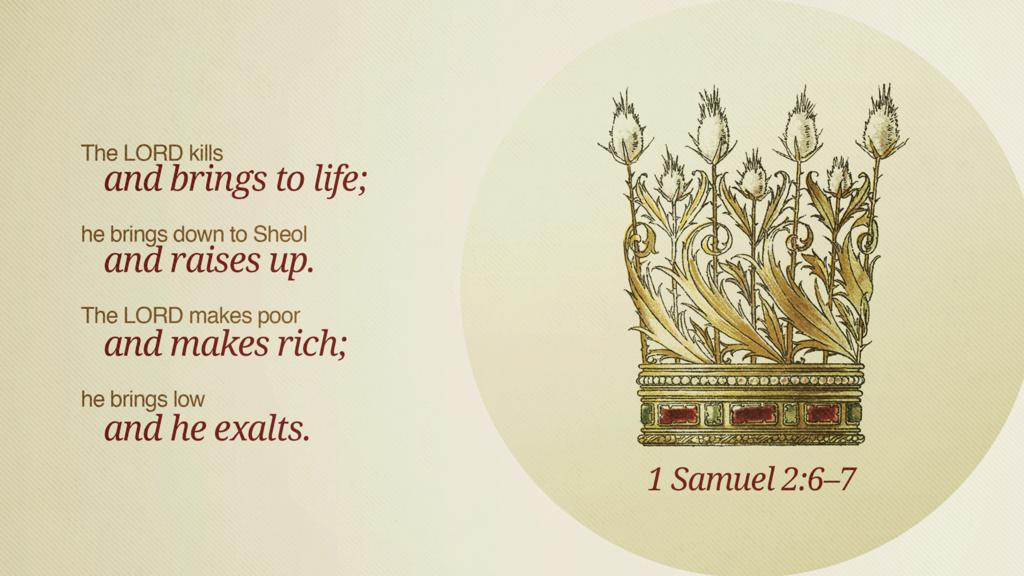 1 Samuel 2:6–7 large preview