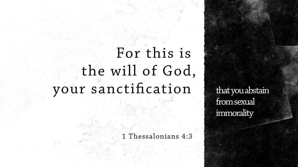 1 Thessalonians 4:3 large preview