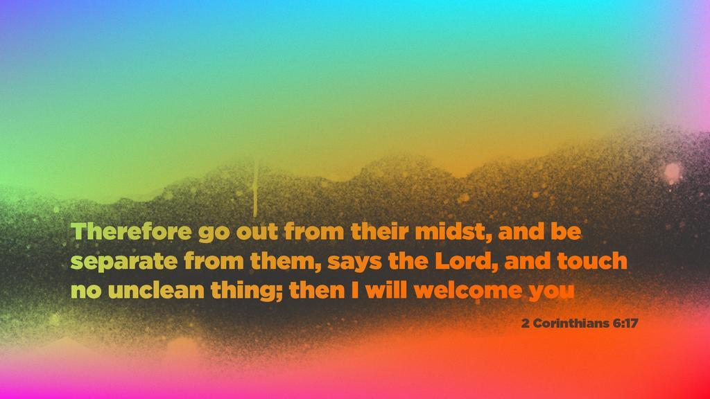 2 Corinthians 6:17 large preview