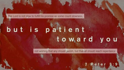 2 Peter 3:9 verse of the day image