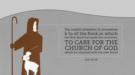 Acts 20:28 verse of the day image