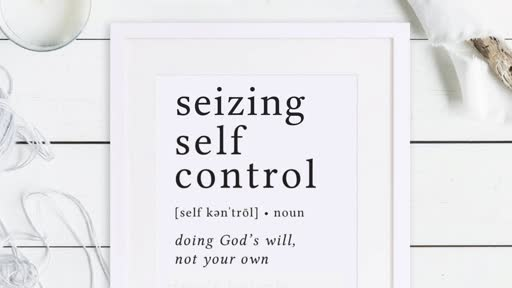 Seizing Self Control