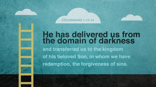 Colossians 1:13–14 verse of the day image