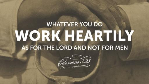 Colossians 3:23 verse of the day image