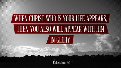 Colossians 3:4 verse of the day image