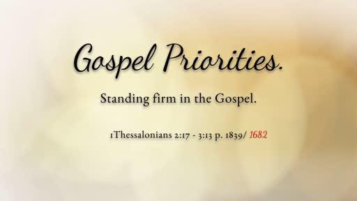 Gospel Priorities