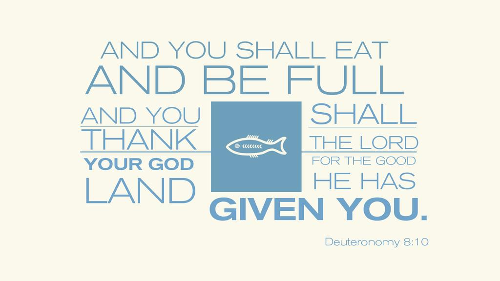 Deuteronomy 8:10 large preview