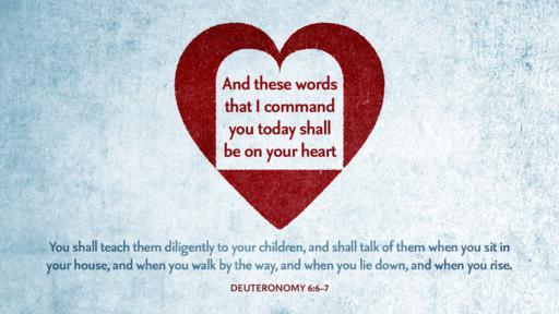 Deuteronomy 6:6–7 verse of the day image