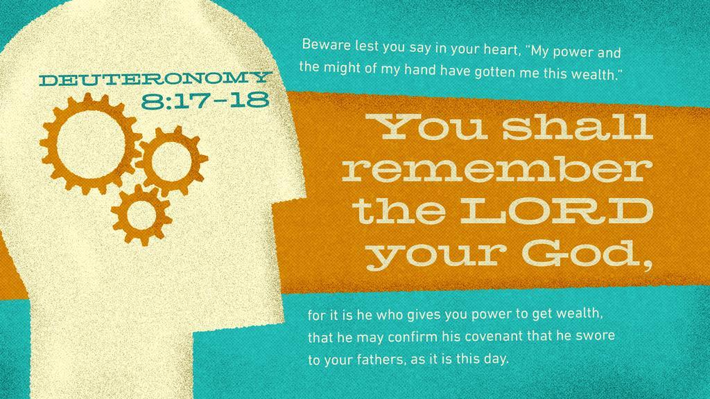 Deuteronomy 8:17–18 large preview