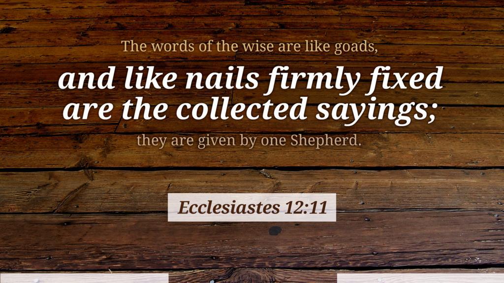 Ecclesiastes 12:11 large preview