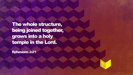Ephesians 2:21 verse of the day image